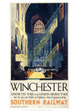 Winchester Inside Cathedral Giclee-trykk