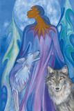 Wolf Guardian Posters by Maxine Noel