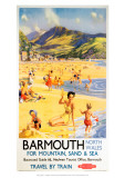 Barmouth North Wales for Mountain, Sand and Sea Giclee Print