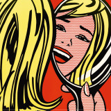 Girl in Mirror, c.1963 Plakater af Roy Lichtenstein