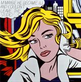 M-måske, på engelsk, ca.1965 Plakater af Roy Lichtenstein
