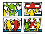 Pop Shop Quad I, c.1987 Posters van Keith Haring