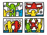 Pop Shop Quad I, c.1987 ポスター : キース・ヘリング