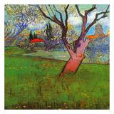 Vue d'Arles avec arbres en fleurs (Détail) Lámina por Vincent van Gogh
