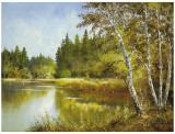 Secret Pond Plakater af Helmut Glassl