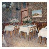 Intérieur d'un Restaurant Plakater av Vincent van Gogh