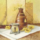 Stillleben – Sonnenblumen Kunstdruck von Babicev Vjaceslav