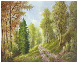 Mountain Path Poster af Helmut Glassl