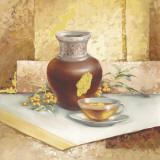 Still Life With Tea Kunstdrucke von Babicev Vjaceslav