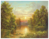 Sunset Plakater af Helmut Glassl