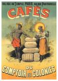 Cafés Du Comptoir Des Colonies Poster