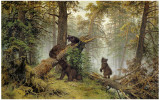Moring In A Pine Wood Posters by Ivan Ivanovitch Shishkin