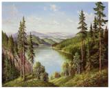 High Mountain Lake Prints by Helmut Glassl