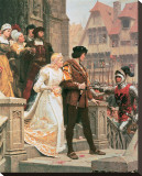 Call To Arms Stretched Canvas Print by Edmund Blair Leighton