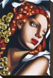 L'eclat Stretched Canvas Print by Tamara de Lempicka