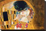 El beso, ca.1907 (detalle) Reproducción de lámina sobre lienzo por Gustav Klimt