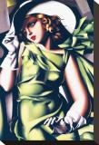 Jeune fille en vert Toile tendue sur châssis par Tamara de Lempicka
