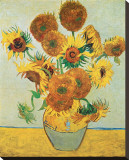 Vase of Fifteen Sunflowers, c.1888 Stretched Canvas Print by Vincent van Gogh