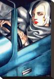 Autoportrait Toile tendue sur châssis par Tamara de Lempicka