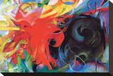 Kämpfende Formen Bedruckte aufgespannte Leinwand von Franz Marc