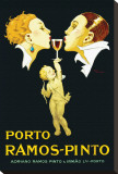 Porto Ramos-Pinto Stretched Canvas Print by René Vincent