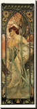 Evening Stretched Canvas Print by Alphonse Mucha