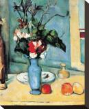 Blue Vase Bedruckte aufgespannte Leinwand von Paul Cézanne