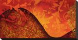 Floral Cochineal Bedruckte aufgespannte Leinwand von Michael Timmons
