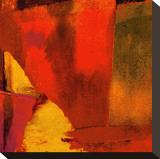 Triptychon Wassily Rot I|Triptych Red Wassily I Bedruckte aufgespannte Leinwand von Petro Mikelo