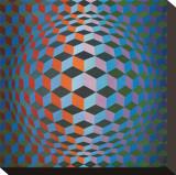 Squares Bedruckte aufgespannte Leinwand von Victor Vasarely