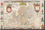 Antique Map, Nova Europa, 1652 Bedruckte aufgespannte Leinwand von Nicholas Visscher
