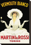 Martini and Rossi Trykk på strukket lerret av Marcello Dudovich