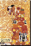 The Embrace Stretched Canvas Print by Gustav Klimt