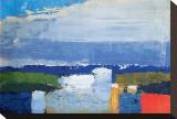 Middaglandschap Kunst op gespannen canvas van Nicolas De Staël