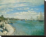 Regatta at Ste-Adresse Stretched Canvas Print by Claude Monet