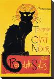 Weiße Katze Chat Noir Bedruckte aufgespannte Leinwand von Théophile Alexandre Steinlen