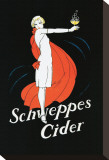 Schweppes Cider Stretched Canvas Print