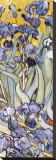 Irises, Saint-Remy, c.1889 (detail) Stretched Canvas Print by Vincent van Gogh