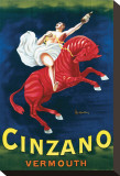 Cinzano Vermouth Stretched Canvas Print