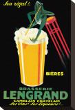 Brasserie Lengrand Opspændt lærredstryk