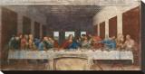 Det siste måltid, ca. 1498 Trykk på strukket lerret av  Leonardo da Vinci