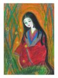 Court LadyIn Bamboo Forest ジクレープリント : マリコ・ミヤケ