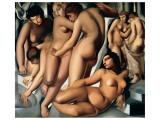 Femmes au Bain Giclée-Premiumdruck von Tamara de Lempicka
