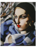 Echarpe Bleue Premium Giclee-trykk av Tamara de Lempicka
