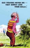 Old golfers Carteles metálicos por  Bamforth & Co