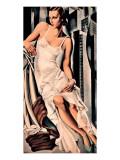 Portrait de Madame Allan Bott Exklusivt gicléetryck av Tamara de Lempicka