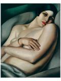 Rafaela sur Fond Vert (Le Reve) Premium Giclee-trykk av Tamara de Lempicka