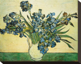 Vase of Irises, c.1890 Sträckt kanvastryck av Vincent van Gogh