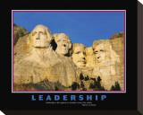 Leadership, Mt.Rushmore Stampa su tela