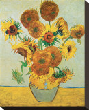 Vierzehn Sonnenblumen in einer Vase, 1888 Bedruckte aufgespannte Leinwand von Vincent van Gogh